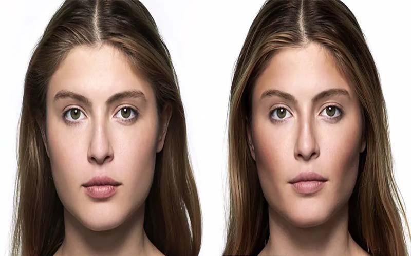 زاویه سازی صورت و گونه